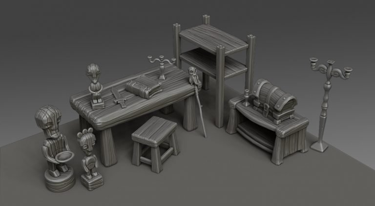 Random stylized props 2 by Artur Romanov