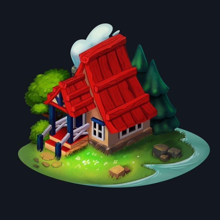 The Lake House by Ganna Kharchenko