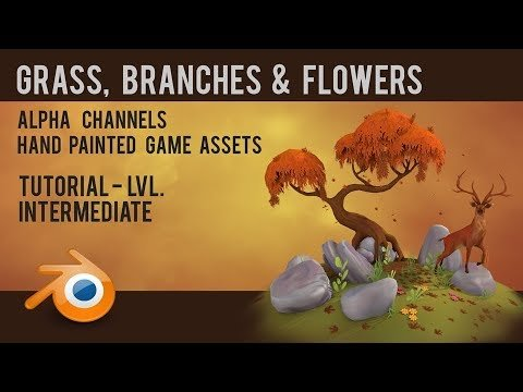 How to create Hand Painted low poly assets using Alpha Channels in Blender