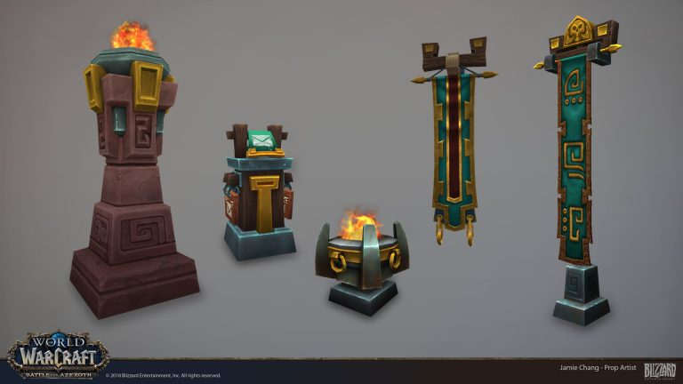 Zandalari Troll Props from World of Warcraft: Battle for Azeroth by Jamie Chang