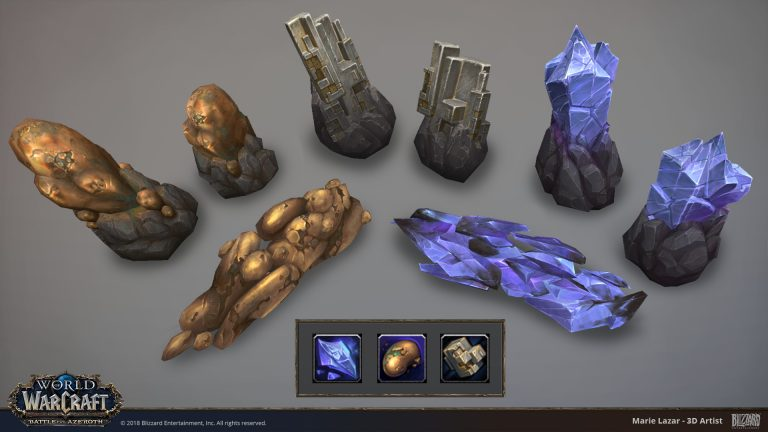 Mining Nodes – Battle for Azeroth – World of Warcraft by Marie Lazar
