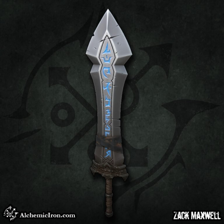 Stylized Rune Sword by Zack Maxwell