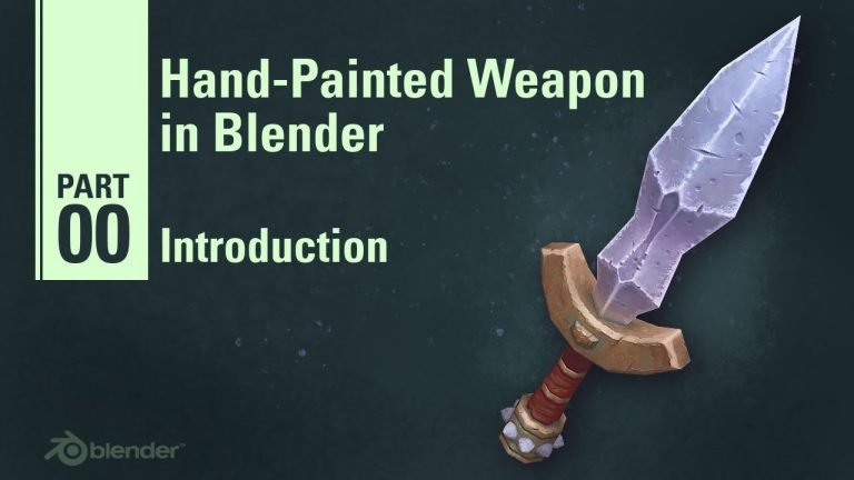 Creating a Stylized Dagger in Blender | 9  Part Tutorial Series
