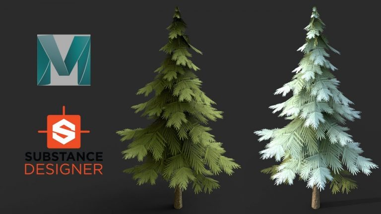 Modelling a Stylized Tree in Maya and Substance Designer(2019 updated)