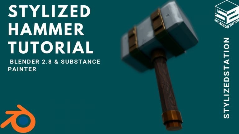 How to Model a Stylized Weapon in Blender & Substance Painter