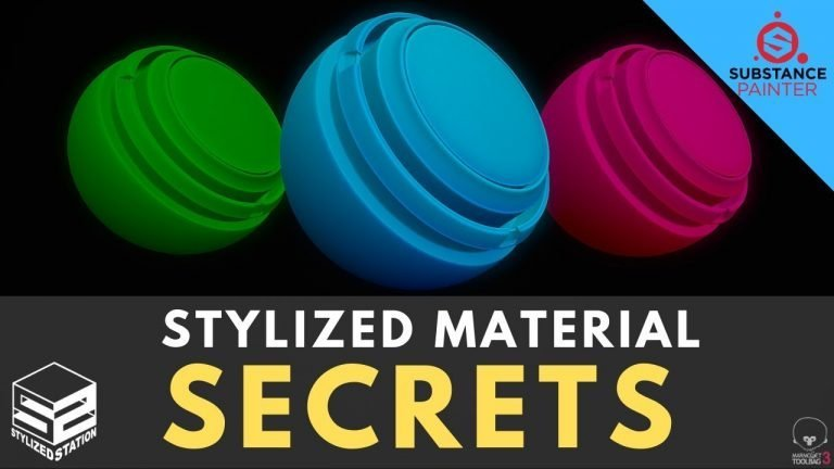 Substance Painter: Beginner Stylized Smart Material Tutorial [3 SIMPLE STEPS]